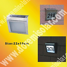 2x SOLAR POWERED HOUSE NUMBERS IN STAINLESS STEEL HOUSING