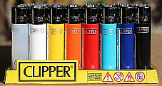 CLIPPER LIGHTERS wholesale  48  solid colour collectible comes with bonus led