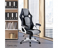 PU Leather Racing Style Office Chair Black and Grey Free shipping Australia wide