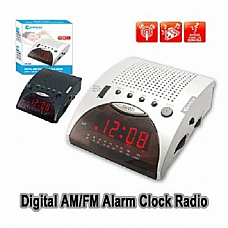 Sansai  AM/FM Alarm Clock Radio large red  led display