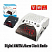 Sansai  AM/FM Alarm Clock Radio large red  led display