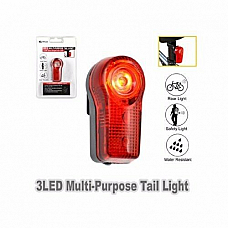 3 Bright LED Bicycle Tail Rear Safety Light 3 Adjustable Modes