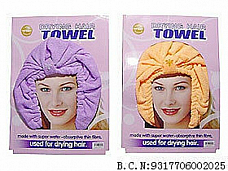 Hair towel fast drying light super absorbant material x2