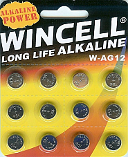 Batteries 12 x AG12, SR43W,SR43,386,LR43 Alkaline Long Life Wincell x2 packs