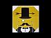 Moustache and Hat MDF WALL PANEL Canvas print 28 cm x 28 cm