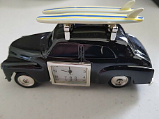 FJ Holden sedan  retro surfer clock metal comes in a gift box unique(rare)