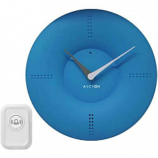 Alcyon Numberic Wall Clock  - Wireless Remote Doorbell Door Bell blue