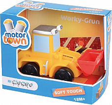Motor Town by Mondo toys high quality soft touch  Bull Dozer  made in Italy 18m+