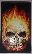 Skull windproof gas refillable lighter