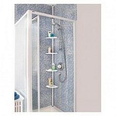 Bathroom / shower 4 shelf  adjustable Bathroom pole  x 2