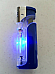 Rhino LIGHTER GAS REFILLABLE with built in LED TORCH & Flashing Disco colour le