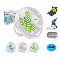 SANSAI USB MINI Desk Fan, OPERATE FROM YOUR COMPUTER 360 DEGREE ROTATION