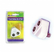 Television Antenna splitters 2 way right angle qualit