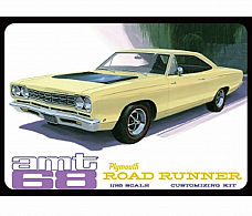 AMT 1/25 PLASTIC MODEL KIT 1968 PLYMOUTH ROAD RUNNER AMT821