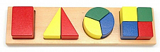 NEW WOODEN SHAPE AND FRACTION PUZZLE