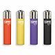 Clipper micro soft touch gas refillable lighters set of 8