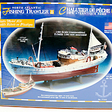 North Atlantic Fishing Trawler 1/90 Model Kit by Lindberg