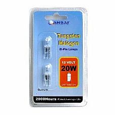 Sansai 12V 20W Halogen Bi Pin Globe Lamp pk of two x4 = 8 lamps