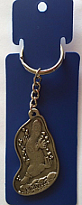 Platypus key ring  made of the highest quality pewter great detail 3 D