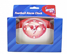 Brand new in box  Official AFL merchandise   Analogue alarm clock  Takes 1 AA ba