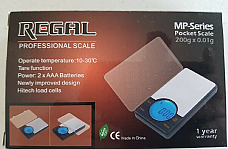 Zico/Regal professional MP-200 pocket scales 0.01 g x 200 g 1 year warranty