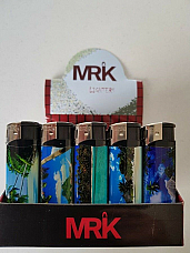 MRK by Zico wholesale lighters display of fifty  electronic Scenery collectable