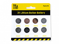 BUTTON BATTERIES 3 VOLT LITHIUM CR2032,CR2025, CR2016 HIGH QUALITY PK OF 8