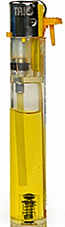 slimline gas refillable normal flame see through lighter yellow