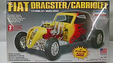 Lindberg Fiat Dragster 1/12 model kit model number 73043 Huge kit