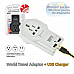 Sansai world travel adapter plus usb charger