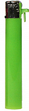 slimline gas refillable normal flame solid colour lighter Green