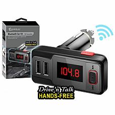 Wireless Bluetooth MP3 Player FM Transmitter Hands free Car Kit Dual USB AUX/SD