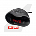 Sansai  AM/FM Alarm Clock Radio large red  led display Snooze Sleep back up