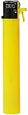 slimline gas refillable normal flame solid colour lighter yellow