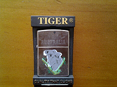 Tiger souvenir oil lighter Australiania high quality 12 month warranty