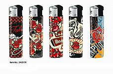 LIGHTER ELECTRONIC GAS REFILLABLE  carnation    HIGH  QUALITY ONE FREE POSTAGE