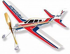 PA28 Archer Rubber Band Powered  Model Light Plane Kit: Lyonaeec Trainer