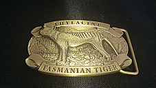 Tasmanian  Tiger  high quality  belt   buckle Tasmanian  made  very high quality