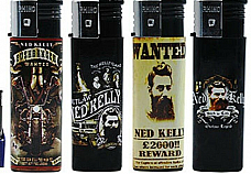 Y148 Ned Kelly  electronic windproof refillable  lot of four fast shipping