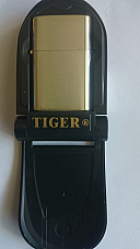 Tiger Nickel gold oil lighter high quality 12 month warranty fast shipping