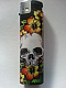 Zico LIGHTER ELECTRONIC GAS REFILLABLE skull with flower QUALITY free postage ++