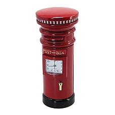 Traditional British Red Post Box / Mail Box Miniature Clock.