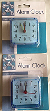 Travel Quartz analogue alarm clocks  x2  Great value