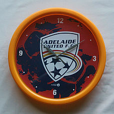 NEW Adelaide United F.C. Wall Clock OFFICIAL MERCHANDISE Fast shipping