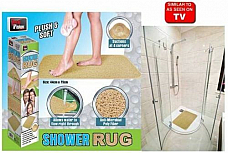 Anti Slip Loofah Shower Rug Bathroom Bath Mat Carpet Water Drains Non Slip x 2