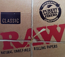 4 Boxes of Raw Classic King Size Natural Unrefined 3 Meter Rolls Rolling Papers