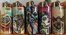 bic collectable set of five lighters free post comes with a free led torch light
