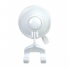 Shower Bathroom White RAZOR SHAVER HOOK Super Strong Suction Cup Wall Mount
