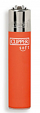 Clipper super lighter gas refillable , Micro soft touch orange