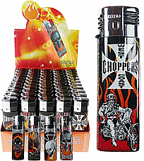 Rhino  Y81n Choppers  gas refillable large lighters lot of five assorted wind